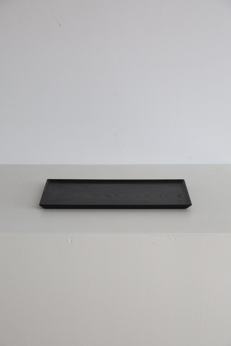 拭き漆角盆|keyaki