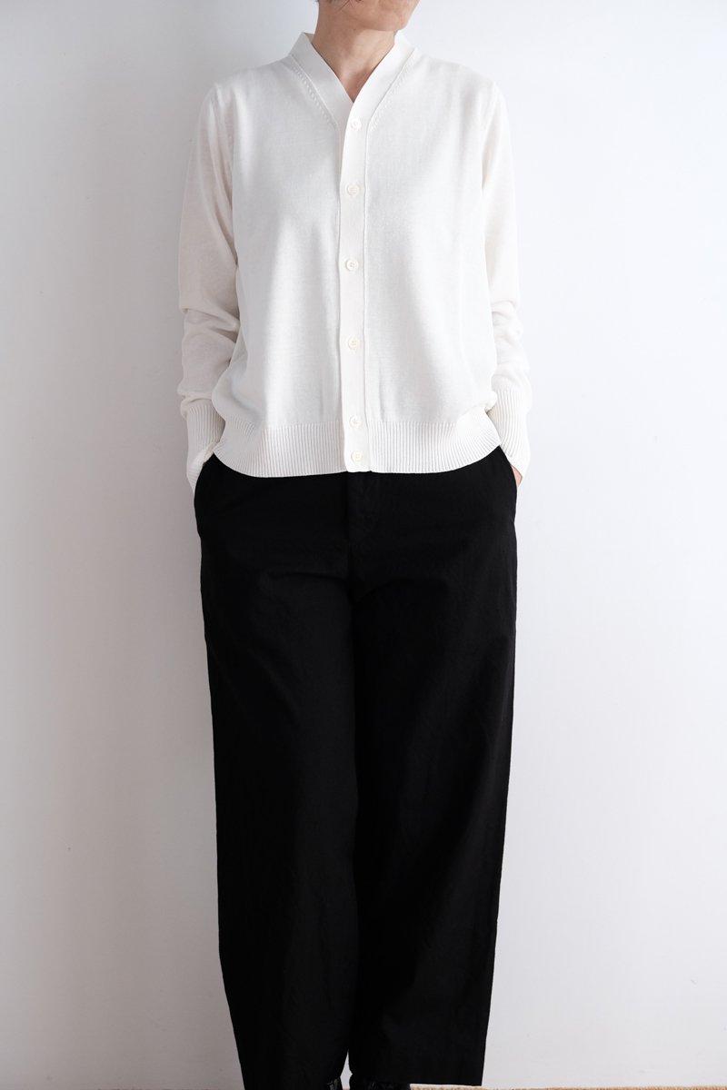 Ice V-neck cardigan|white 2