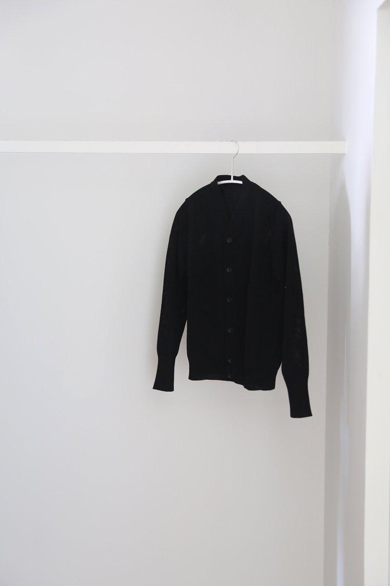 Ice V-neck cardigan|black 1