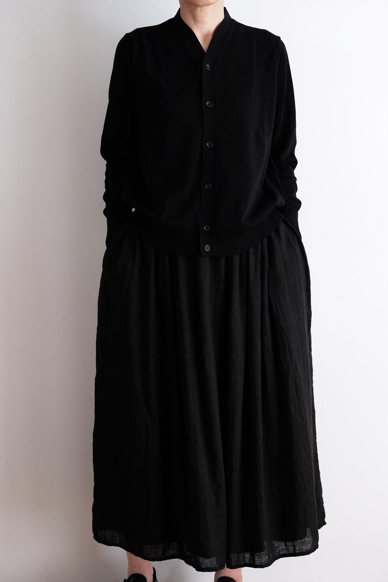 Ice V-neck cardigan|black 3