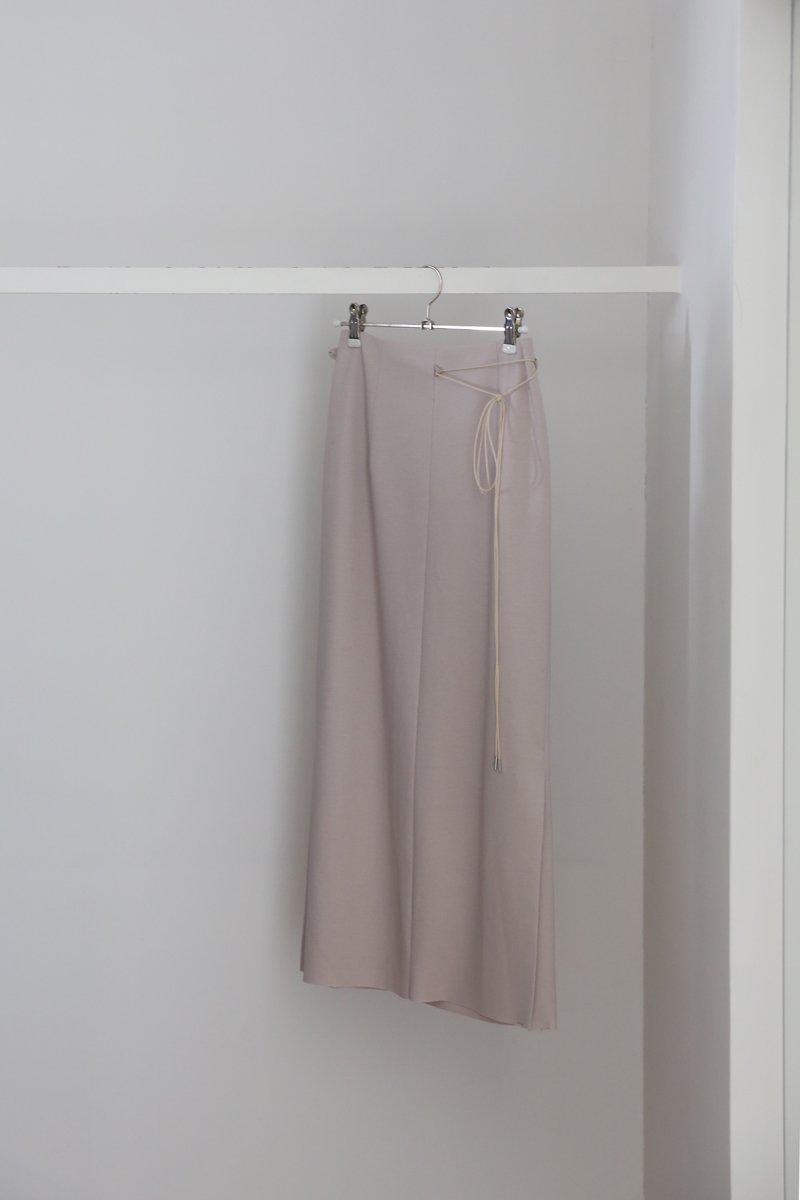 ツイルスムース skirt|ivory
