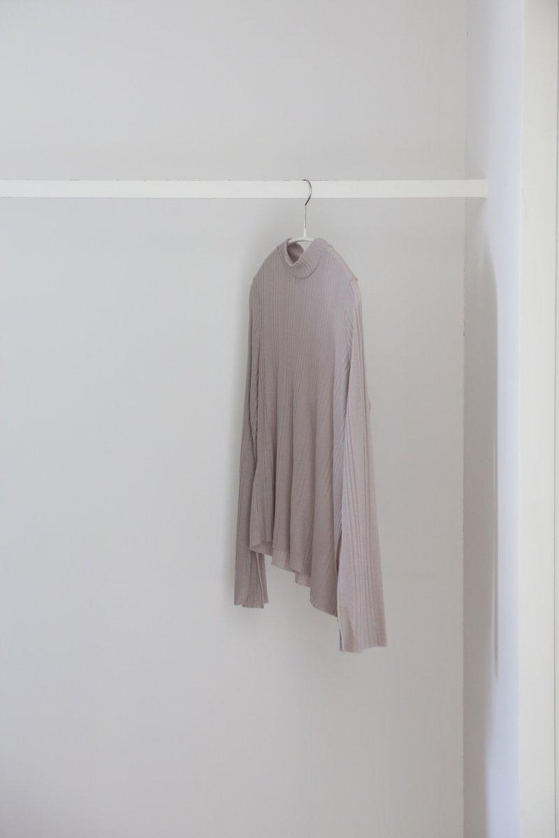 ランダムテレコ pullover|gray