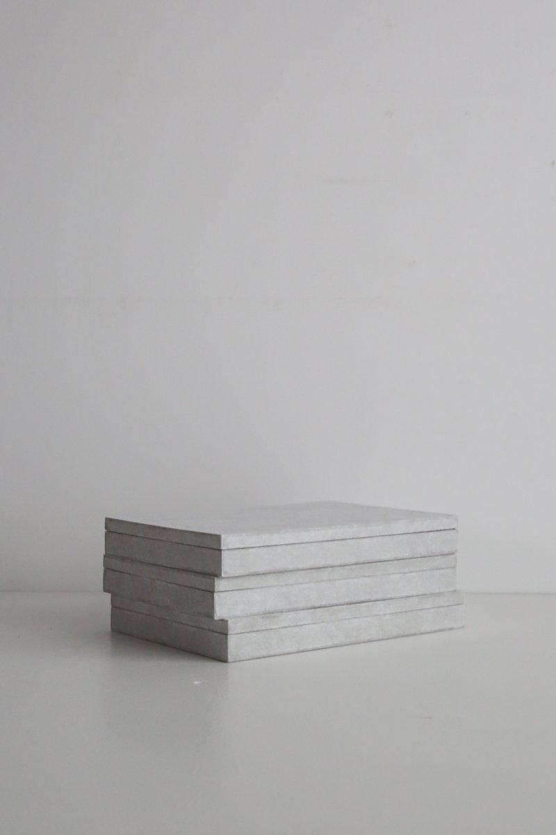 B5サイズの箱 和紙×グレー