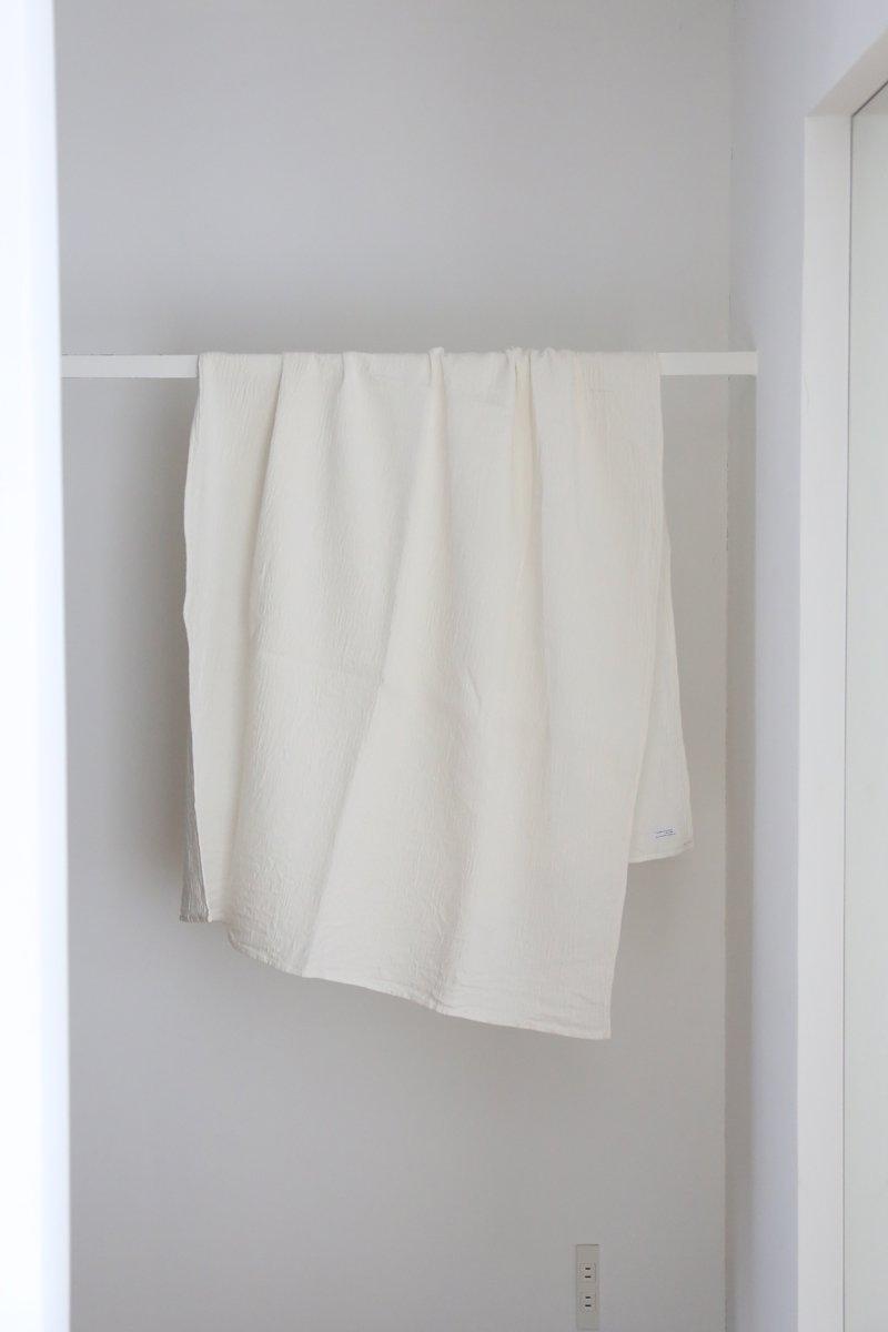 リネン凹凸ストライプクロス|white