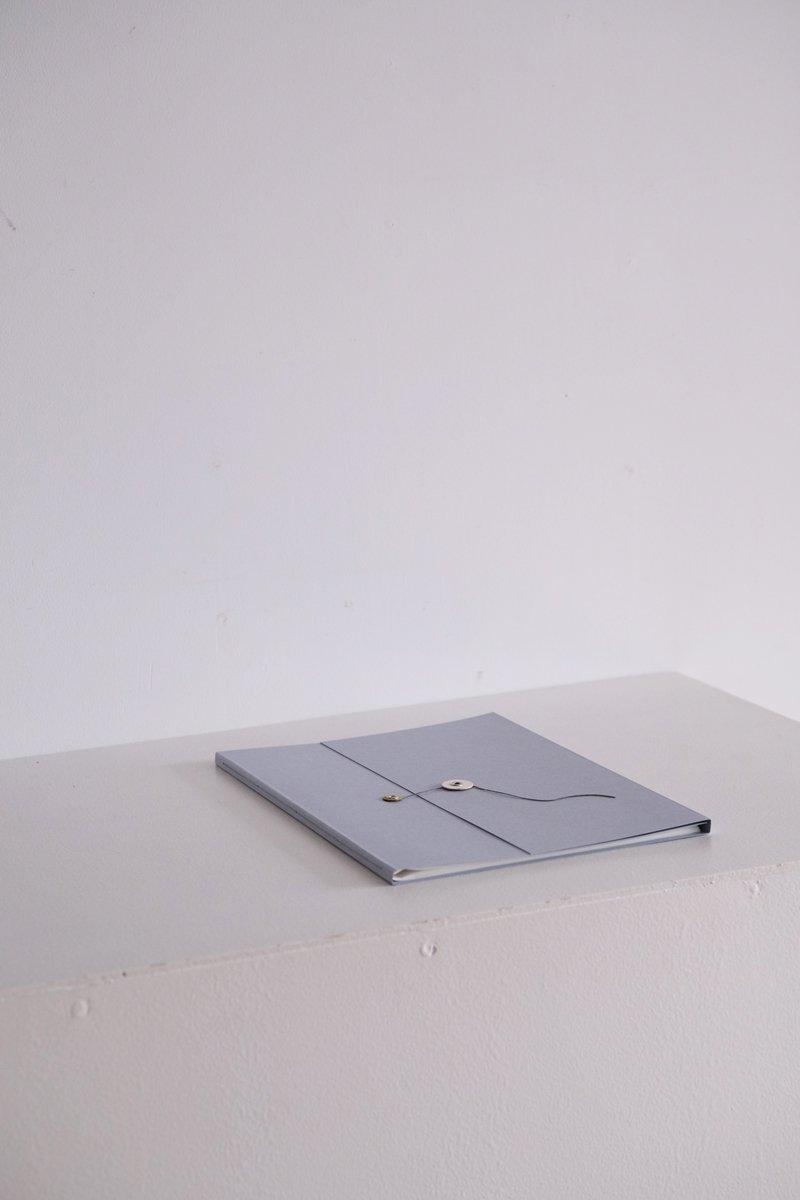 グラシン紙のファイル  B5|杢ブルーグレー