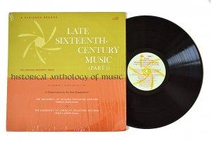 Late Sixteenth-Century Music (Part 1) / Archibald T. Davison and Willi Apel
