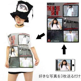 ホラー映画DVDメインメニュー風テンプレ プリントTシャツ ホワイト  5.6oz(5001-01使用) S〜XL オリジナルデザイン