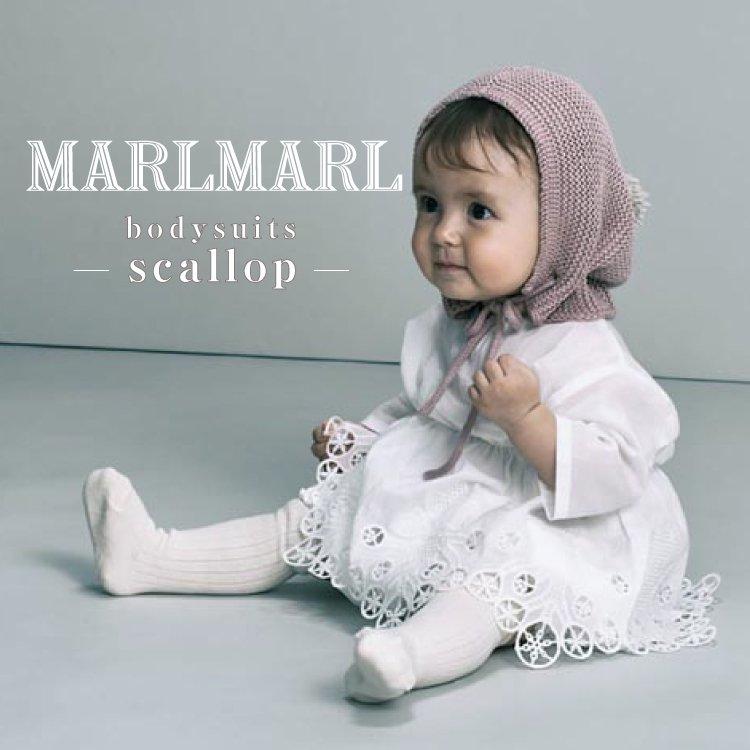 マールマール ボディスーツ MARLMARL bodysuits スカラップ scallop ロンパース チュニック ベビー服 女の子 出産祝い ギフト
