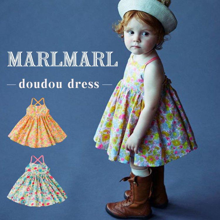 マールマール ワンピース  MARLMARL doudou dress ベビー服 ドレス スカート 花柄 女の子 出産祝い ギフト ダリア マンダリン ミモザ