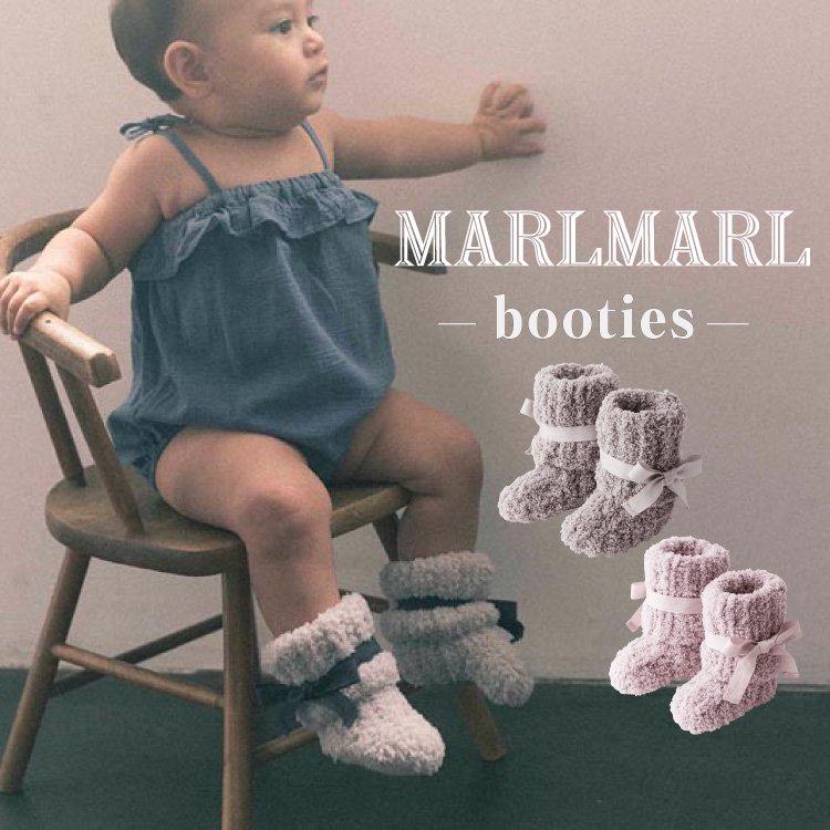 マールマール 出産祝い ルームソックス ブーティ MARLMARL booties ニット ソックス ハンドメイド リボン付き レッグウェア 出産祝い 男の子 女の子