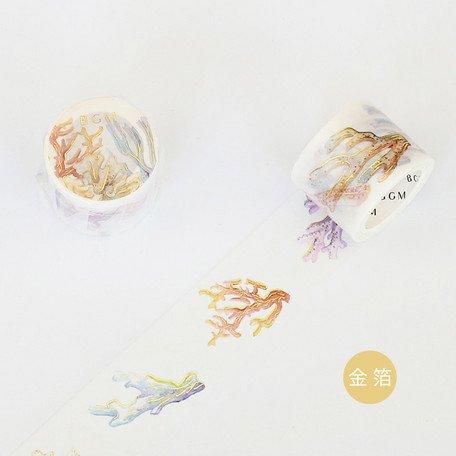 【5%OFF】 金箔 水彩珊瑚 30�