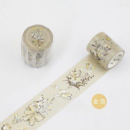 【5%OFF】 スペシャル 金箔 レトロなメロディ 花と蝶 40�
