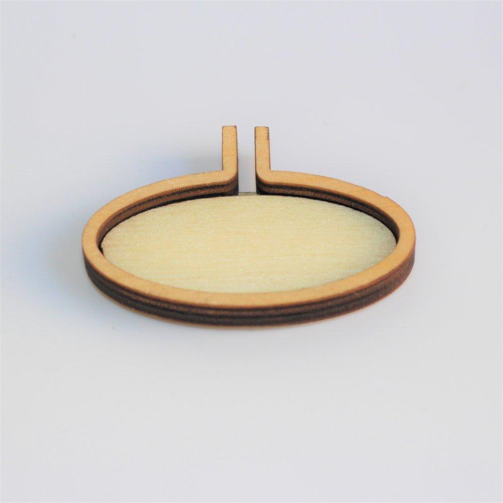 木製ミニ刺繍フープフレーム オーバルM 横