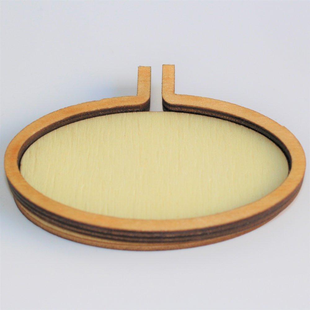 木製ミニ刺繍フープフレーム オーバルL 横