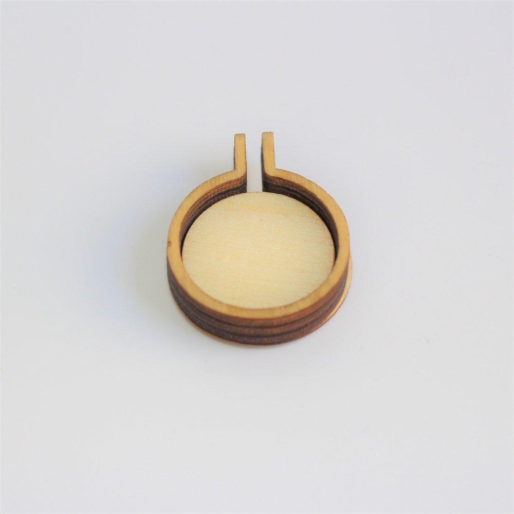 木製ミニ刺繍フープフレーム ラウンドS