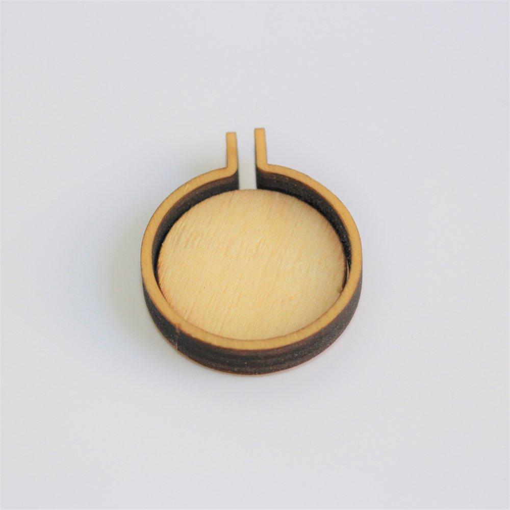 木製ミニ刺繍フープフレーム ラウンドM