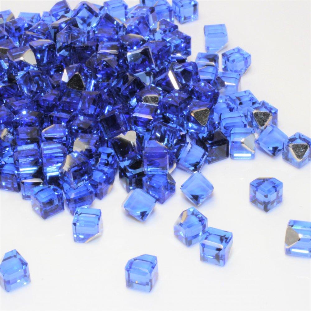 ガラスキューブジュエリー ブルー 10個