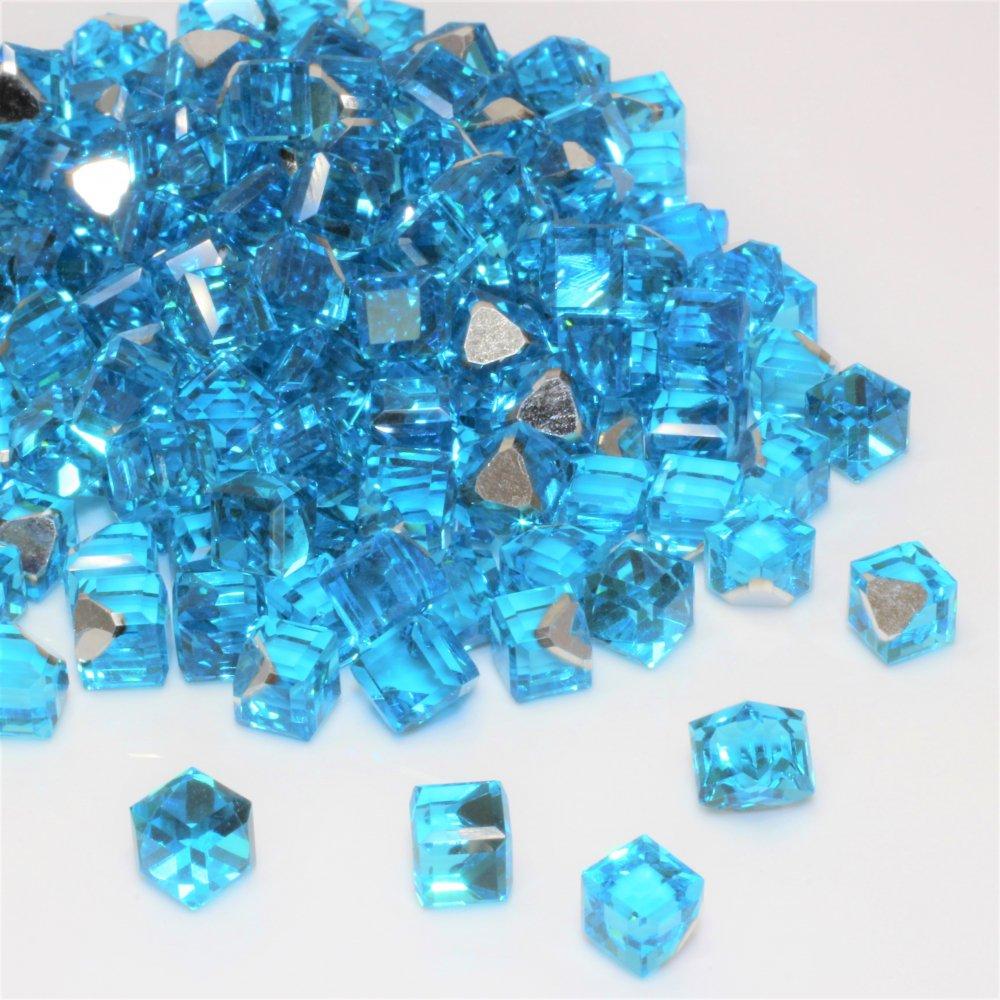 ガラスキューブジュエリー ライトブルー 10個