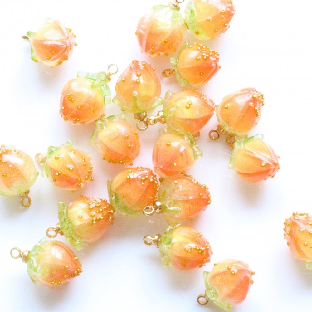 アクリルチャーム ストロベリー オレンジ 2個
