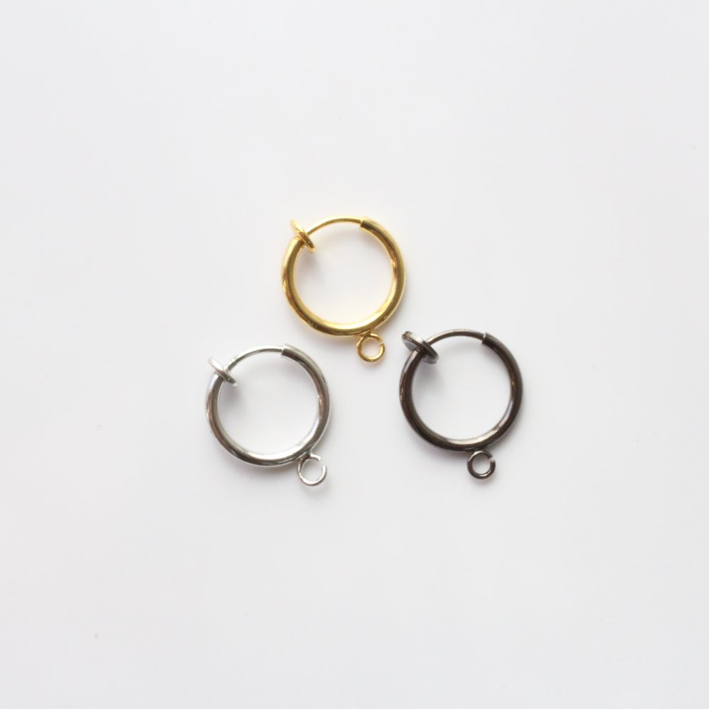 【online shop 限定】カン付き フープイヤリングパーツ 2個