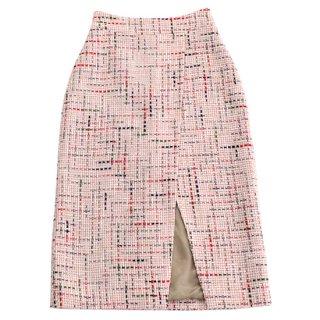tweed skirt (red)