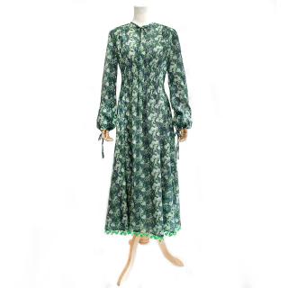 Flower Rain Dress (green)