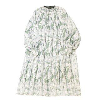 marble maxi dress (green)