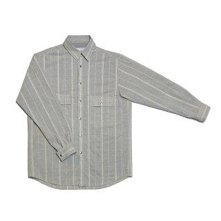 cross stripe blouson (gray)