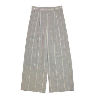 cross stripe pants woman (gray)