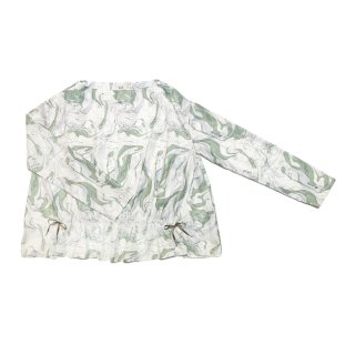 marble gather blouse (green)