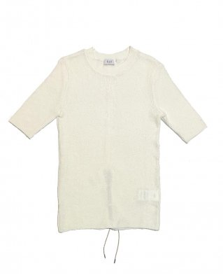 rib T shirt (white)