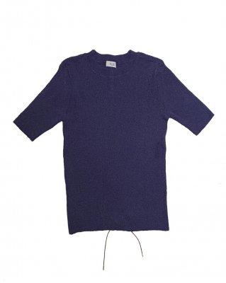 rib T shirt (navy)