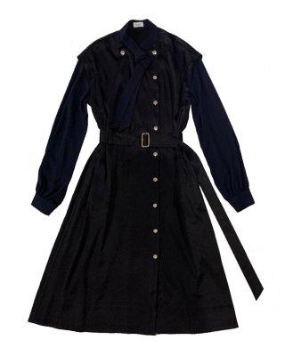 bowtie dress (navy)