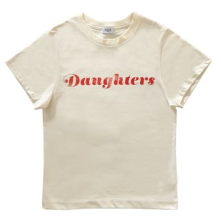 [daughters × tiit tokyo] logo T shirt (Ivory)