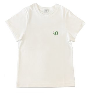 [daughters × tiit tokyo] hand print T shirt (white)