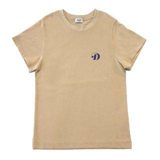 [daughters × tiit tokyo] hand print T shirt (beige)