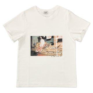 [daughters × tiit tokyo] photo T shirt (white)