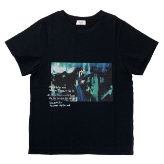 [daughters × tiit tokyo] photo T shirt (black)