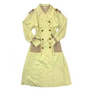 [daughters × tiit tokyo] yellow trench coat