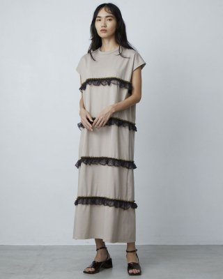 torchon lace dress (beige)