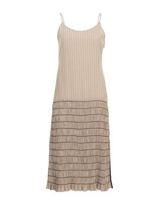 shirring cami dress (pink beige)