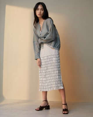 shirring cami dress (white)
