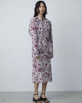 3D flower print blouse (purple)