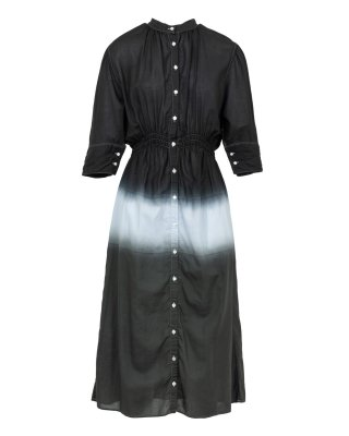 gradation dye dress (black × green)