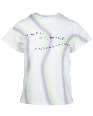 paint stripe T shirt (white)