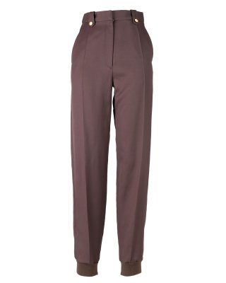 rib pants (brown)