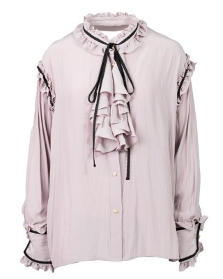 frill blade blouses (pink)