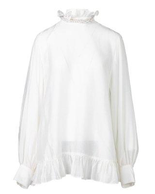 pearl long blouse (white)