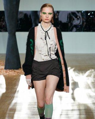 angel knit cardigan (black)