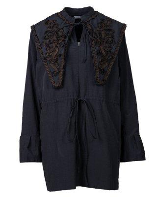 ribbon emb tunic (black)